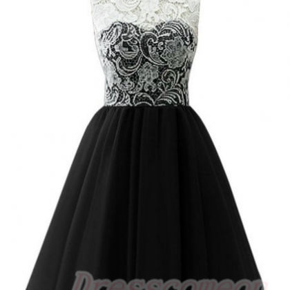 2016 Simple Lace Short Prom Dresses..