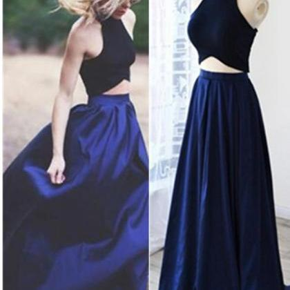 Real Beautiful Royal Blue Prom Dres..