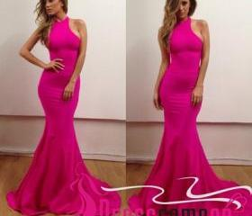 Sheath Prom Dress, L..