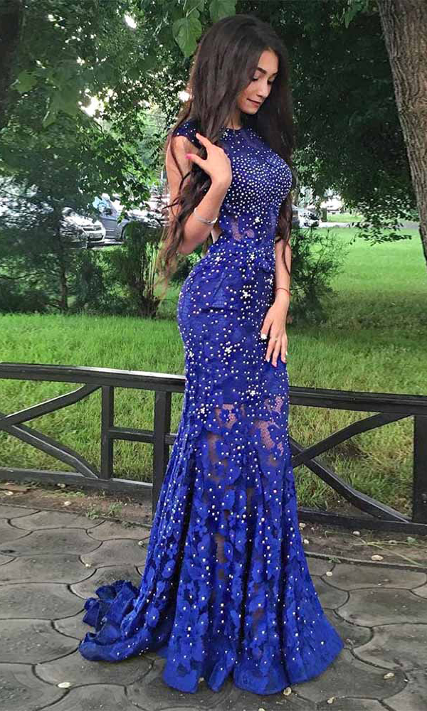 Backless Lace Prom Dresses,Mermaid Prom Dresses,Royal Blue Prom Dresses,Long Prom Dress,Prom Dresses For Teens,Beading Prom Dresses,Elegant Prom Dress,Evening Dresses,Women Dresses DR0049