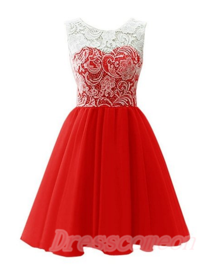 Red short dresses for teens