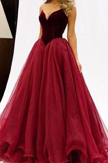 2016 New Arrival Long Prom Dresses,Strapless Evening Dresses,Real Sexy Prom Dress,Simple Prom Gowns,Cheap Party Prom Dresses