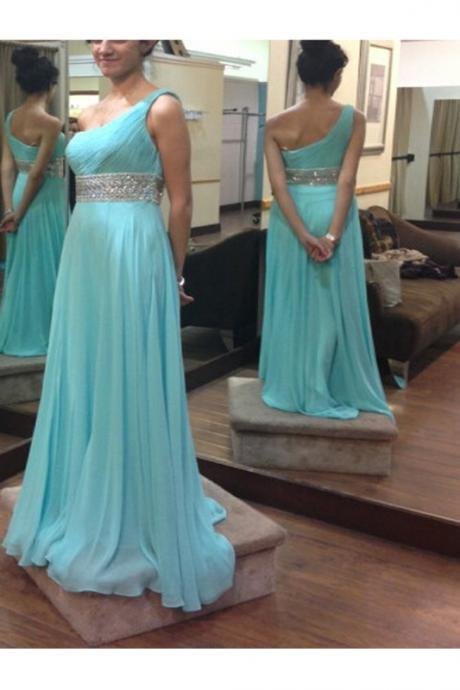 One Shoulder Prom Dresses,Charming Prom Dress,Chiffon Prom Gowns,Cheap Evening Dresses,High Low Party Prom Dresses