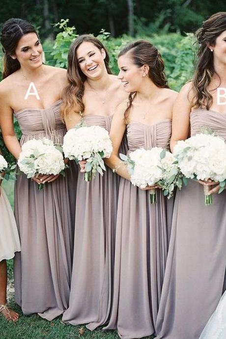Long Bridesmaid Dresses For Wedding,Simple Bridesmaid Dresses,Pretty Bridesmaid Dresses,Chiffon Bridesmaid Dresses,Pregnant Bridesmaid Gowns