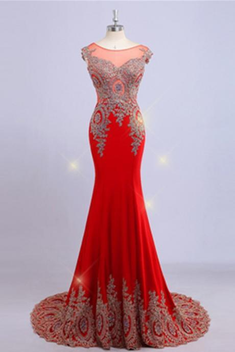 Red Prom Dresses,Mermaid Prom Dress For Teens,Formal Handmade Long Prom Dress,Beautiful Charming Prom Gowns,Graduation Dresses