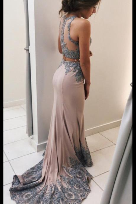 Prom Dresses For Teens,Pink Prom Dress,Mermaid Prom Dresses,Evening Dresses,Prom Dress 2017,Modest Prom Gowns,Two Pieces Prom Dress,Women Dresses