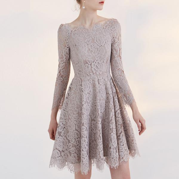 Homecoming Dresses With Sleeves,Short HomecomngDresses,Lace Homecoming Dress,Party Dresses DR0384
