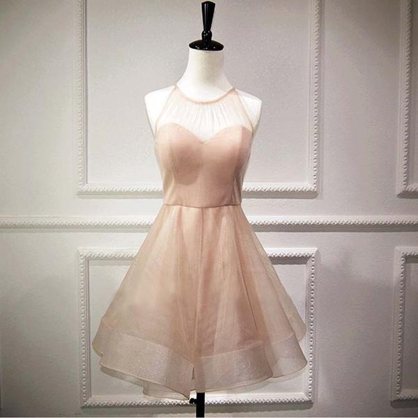 Simple Homecoming Dresses,Champagne Homecoming Dresses,Short Homecoming Dresses,Sweet 16 Dresses,Cute Dresses,DR0387