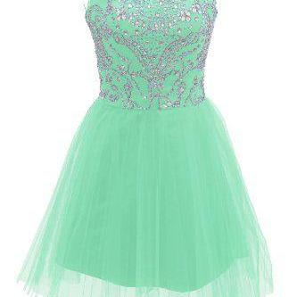 Beading Short/Mini Homecoming Dresses, Party Dresses, Homecoming Dresses, Real Made Graduation Dresses
