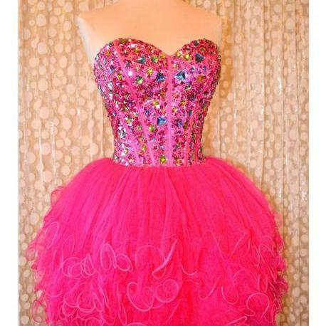 New Arrival Short Beading Homecoming Dresses,Beauty Party Dresses, Sweetheart Real Made Homecoming Dresses, Real Made Graduation Dresses,