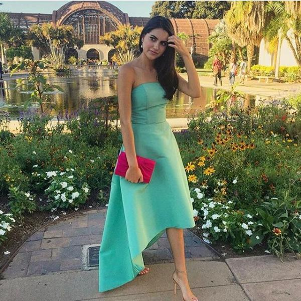 Simple Mint Strapless Prom Dresses,Elegant Prom Dress For Teens,Pretty Prom Gowns