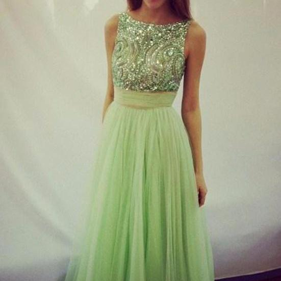 Sage Beading Prom Dresses For Teens,Classy Long A-line Prom Dress,Prom Dresses For Teens,Graduation Dresses,Women Dresses